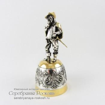 Серебряная штрафная рюмка Мушкетер