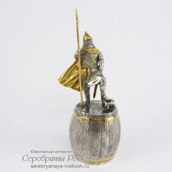 Серебряная штрафная рюмка Ледовое побоище1