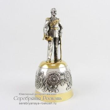 Серебряная штрафная рюмка Николай II
