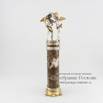 Статуэтка из серебра Амурчики