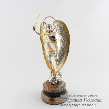 Серебряная статуэтка Архангел Михаил