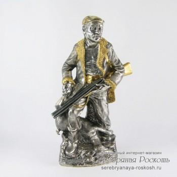 Серебряный графин Охотник