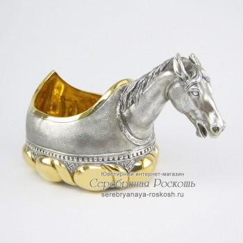 Серебряная братина - ковш Лошадь