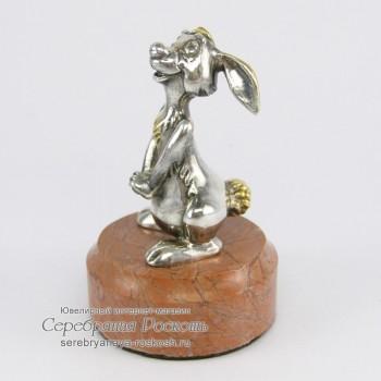 Серебряная статуэтка Заяц