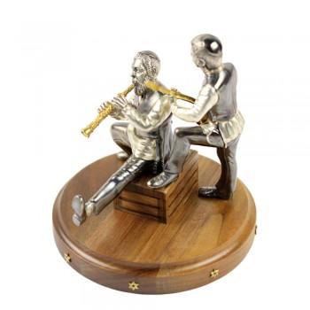Серебряная статуэтка Музыканты