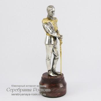Серебряная статуэтка Николай II