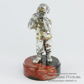 Серебряная статуэтка Еврей ювелир