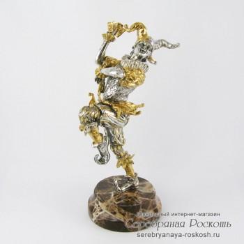 Серебряная статуэтка Джокер (большая)