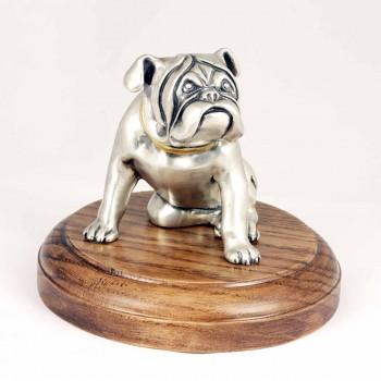 Серебряная статуэтка собака Бульдог