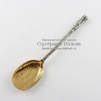 Серебряная чайная ложка Лопатка