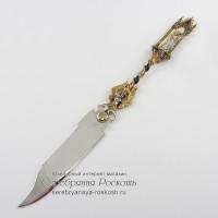 Столовый нож из серебра Готика