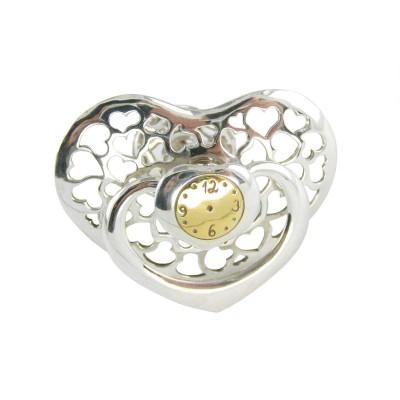 Серебряная погремушка для новорожденных Соска