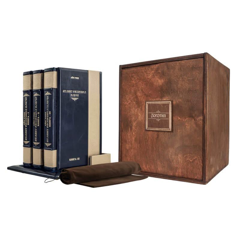 Подарочное издание в переплете из натуральной кожи Атлант расправил плечи