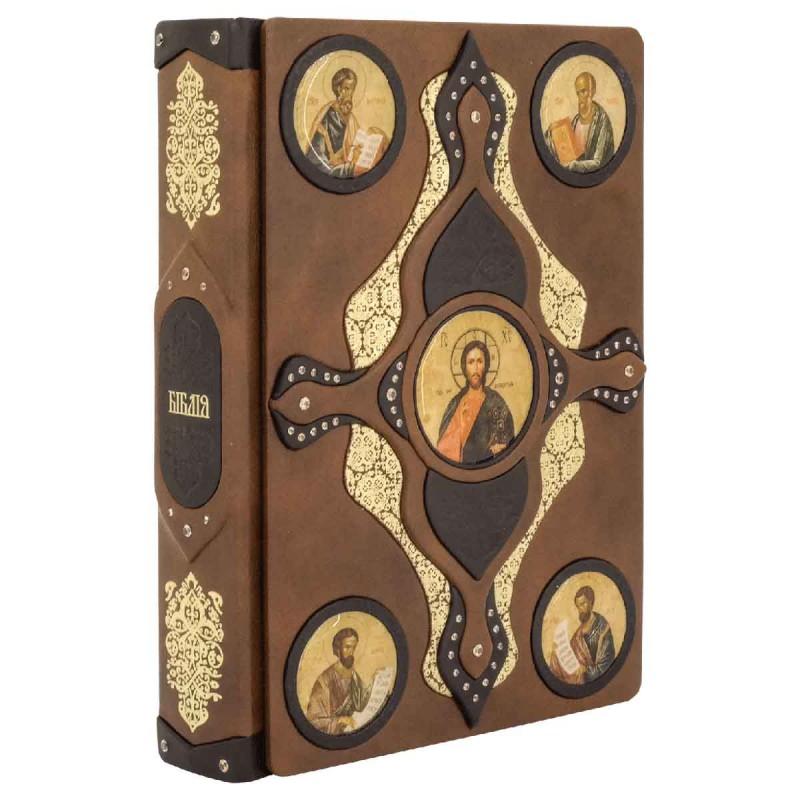 Библия в кожаном переплете на украинском языке