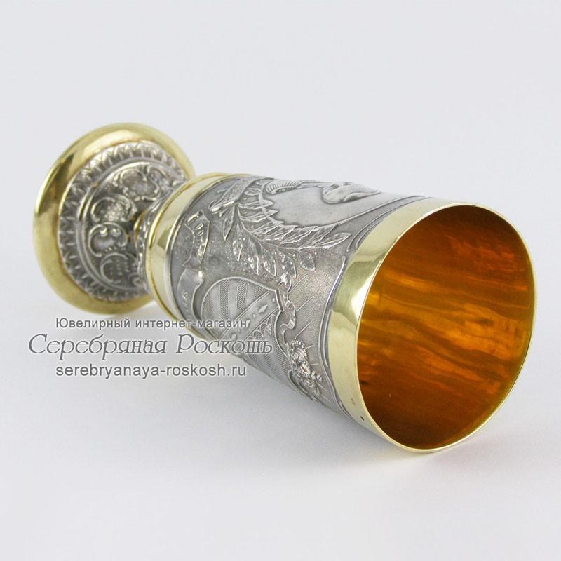 Серебряный фужер король Саксонии