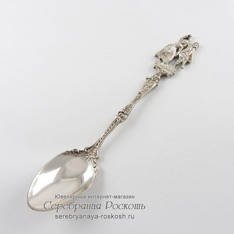 Серебряная десертная ложка Танцы
