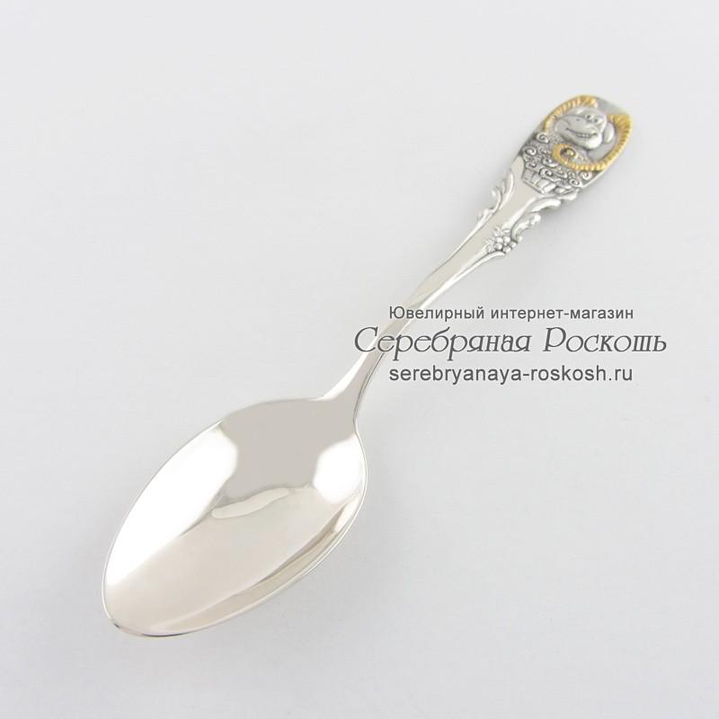 Детская серебряная ложка Козерог