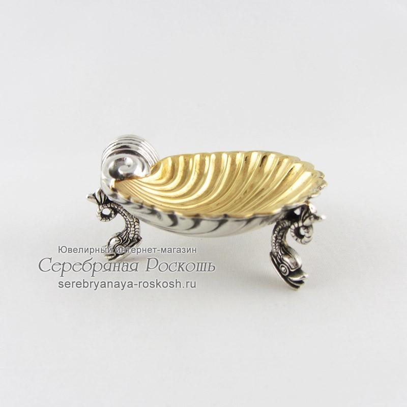 Икорница из серебра Маленькая ракушка
