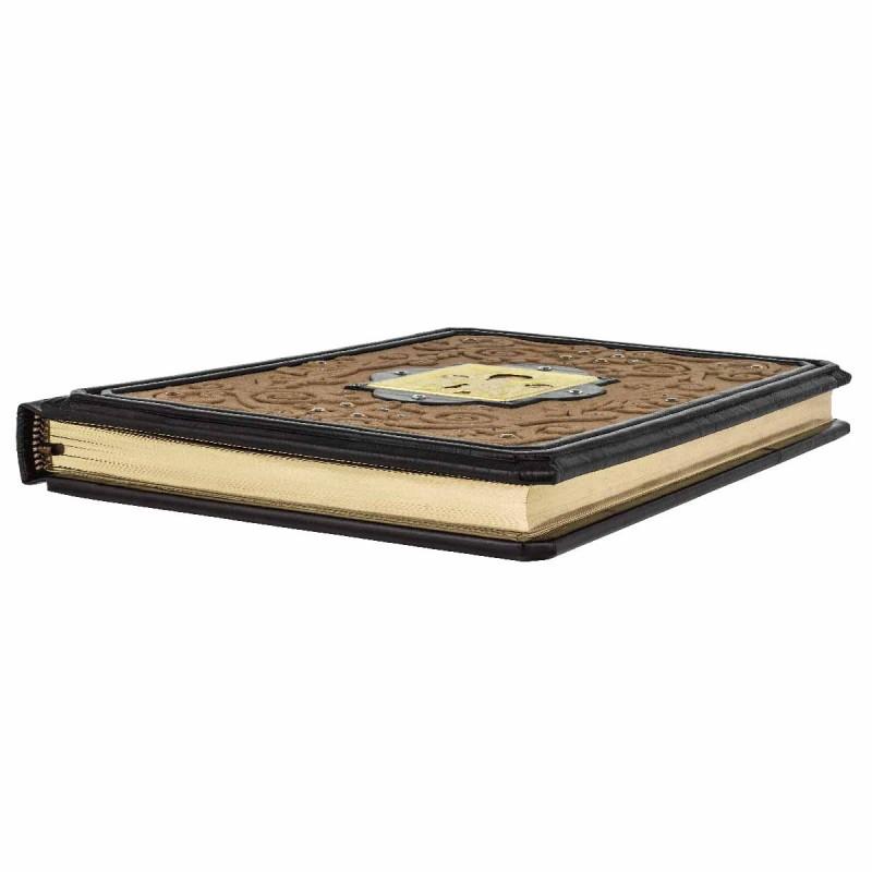 Иллюстрированная Библия в кожаном переплете