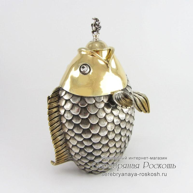 Серебряный графин Рыба
