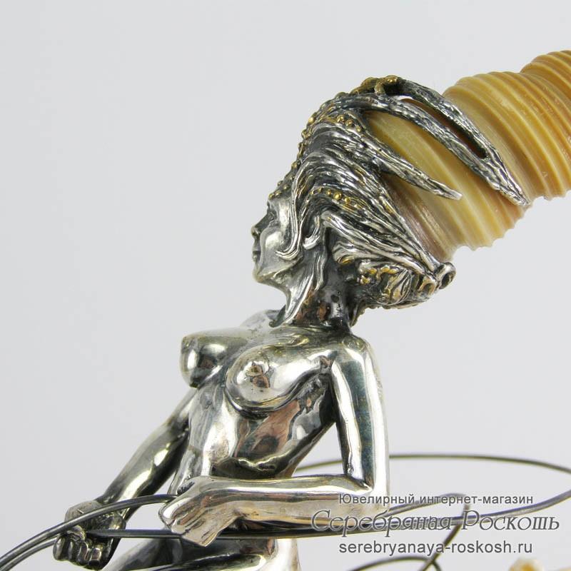 Статуэтка из серебра Морская царица