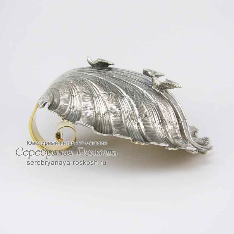 Серебряная конфетница Ракушка