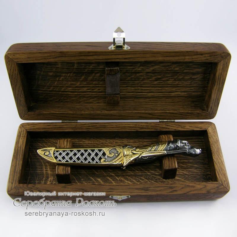 Нож ручной работы Собака