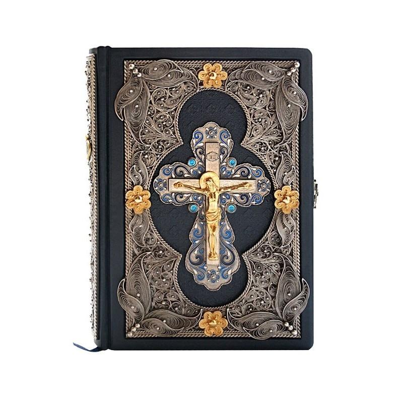 Подарочная Библия в кожаном переплете
