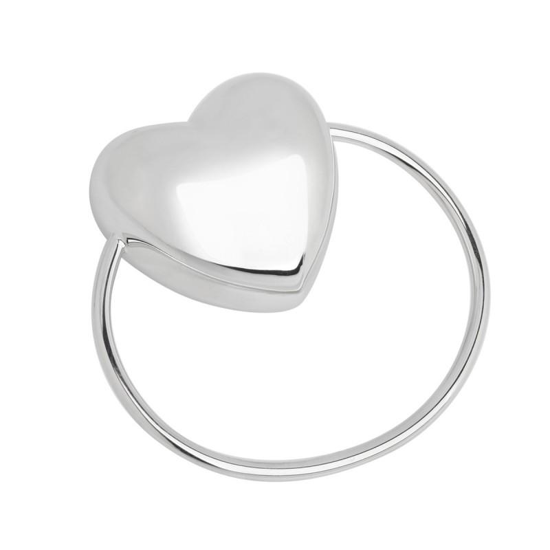 Погремушка из серебра Сердце