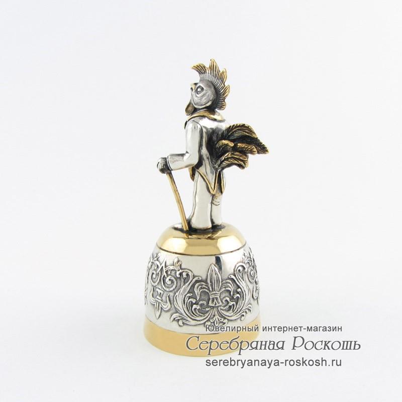 Серебряная рюмка Петух со шляпой