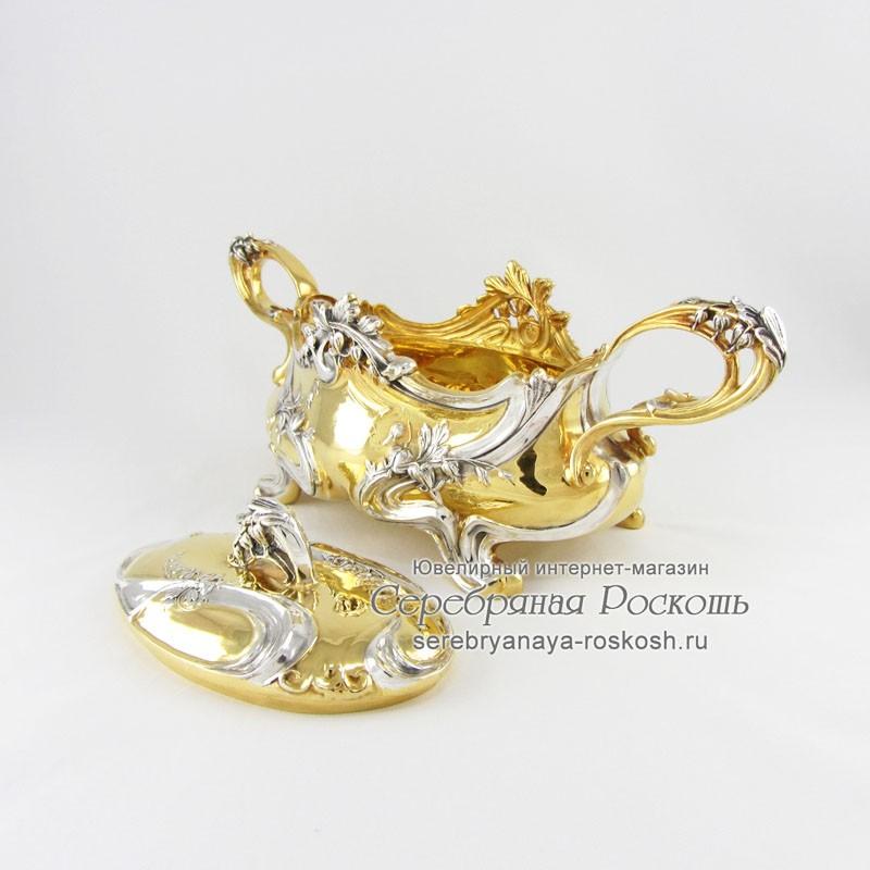 Серебряная шкатулка Ландыши