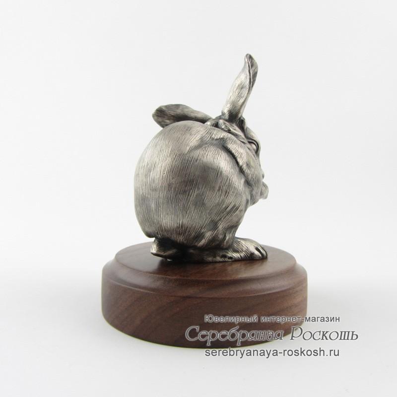 Серебряная статуэтка Зайчик