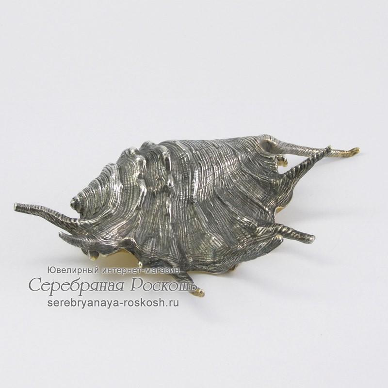 Икорница из серебра Экзотическая ракушка