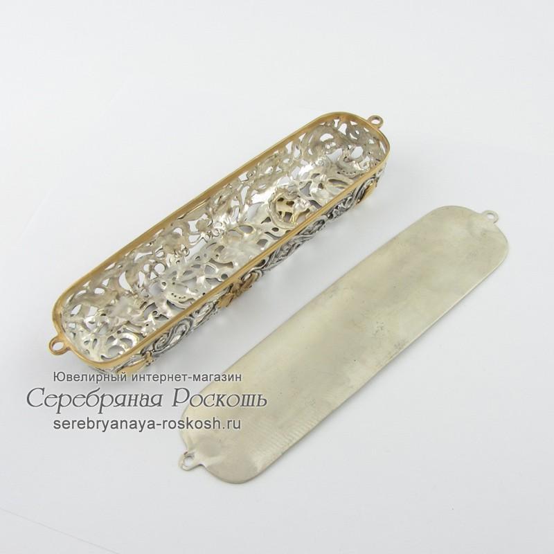 Серебряная мезуза Цветы