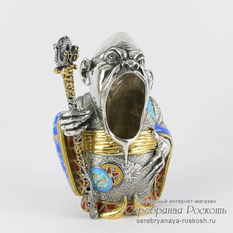 Пепельница из серебра Мандарин