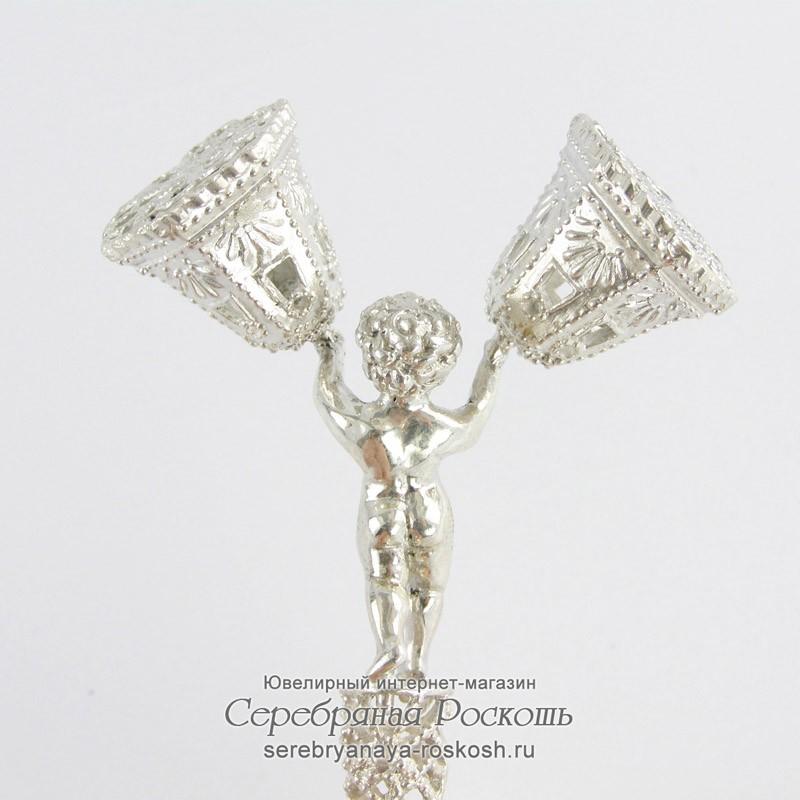 Серебряная погремушка Колокольчики