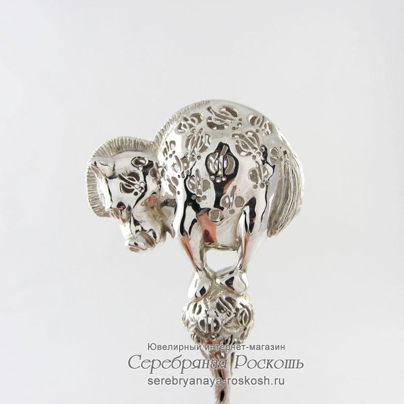 Серебряная погремушка Пони2