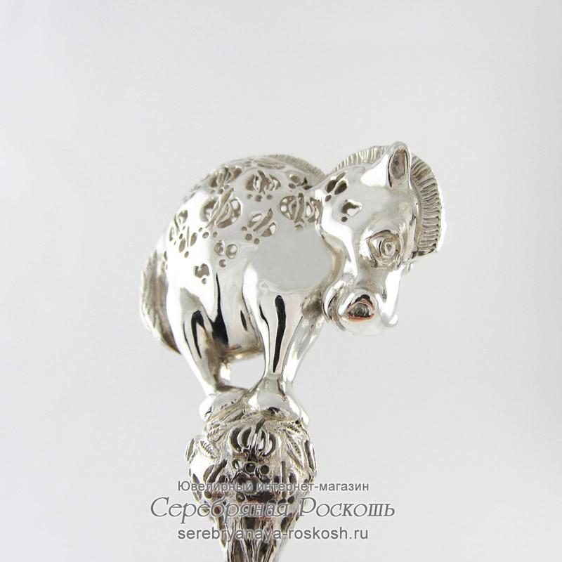 Серебряная погремушка Пони