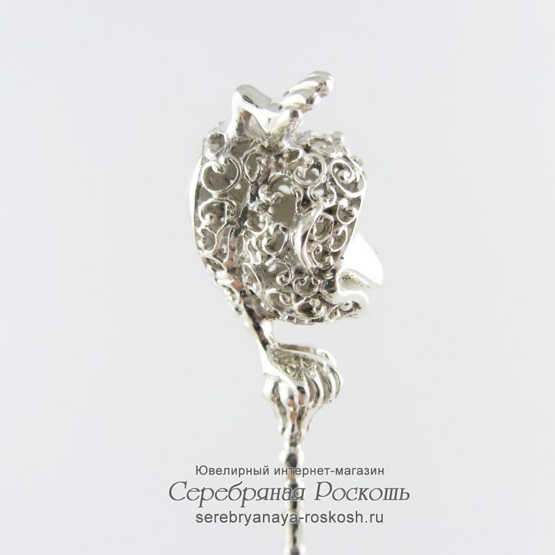 Серебряная погремушка Обезьянка