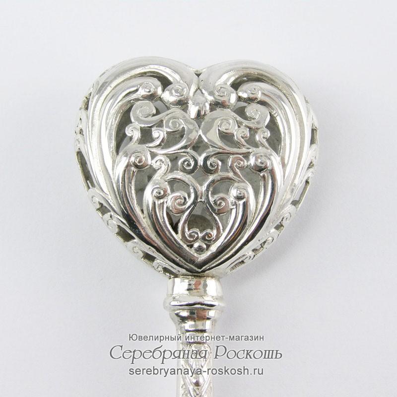 Серебряная погремушка Сердце