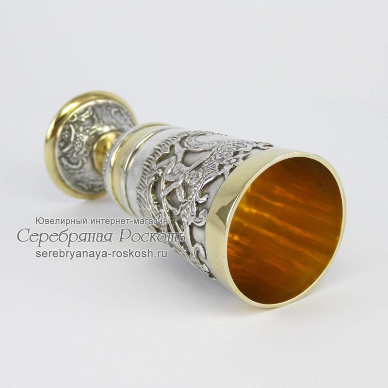 Серебряная рюмка на ножке Ангелочек