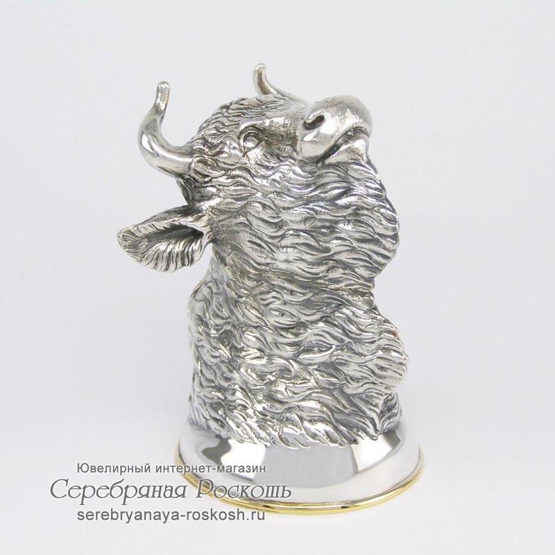 Серебряная рюмка Бык