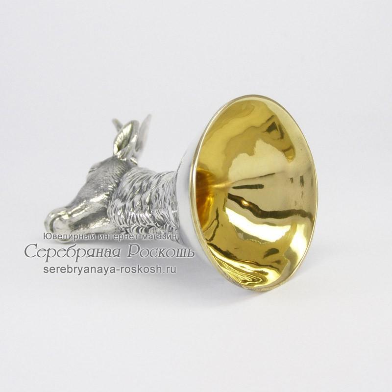 Рюмка из серебра Косуля