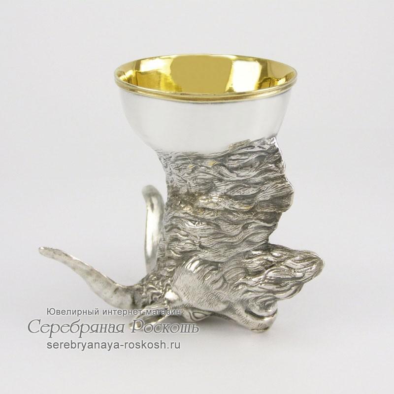 Серебряная рюмка Козел