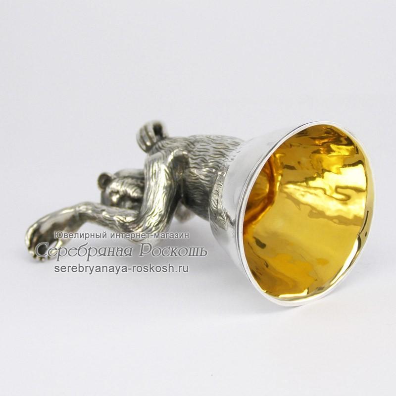 Серебряная рюмка Обезьяна