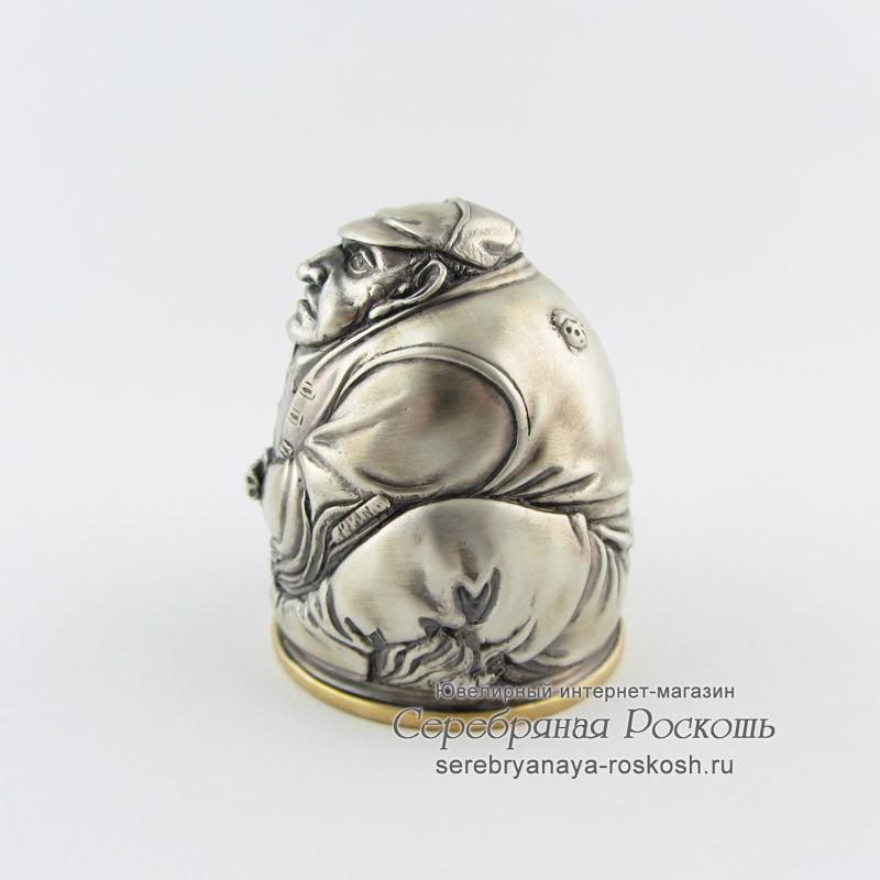 Рюмка из серебра Охотник