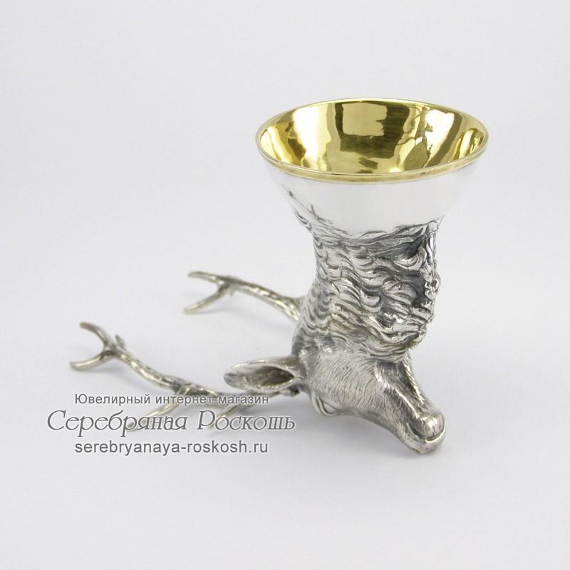 Серебряная рюмка Олень