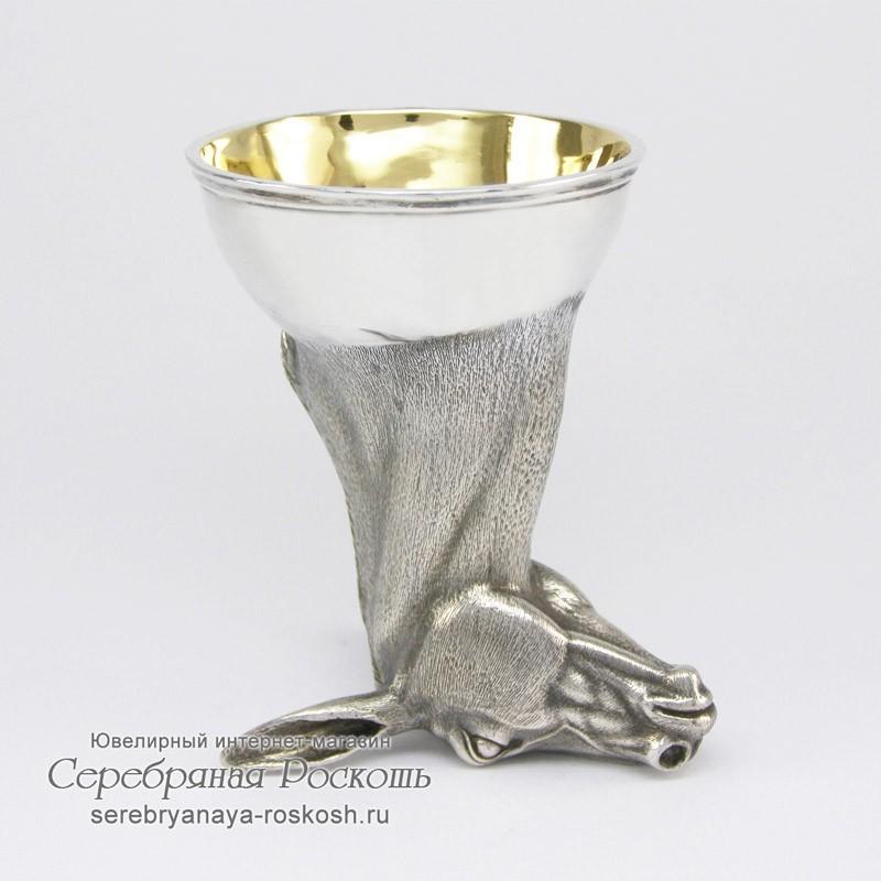 Рюмка из серебра Осел