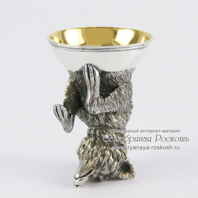 Серебряная рюмка Волк