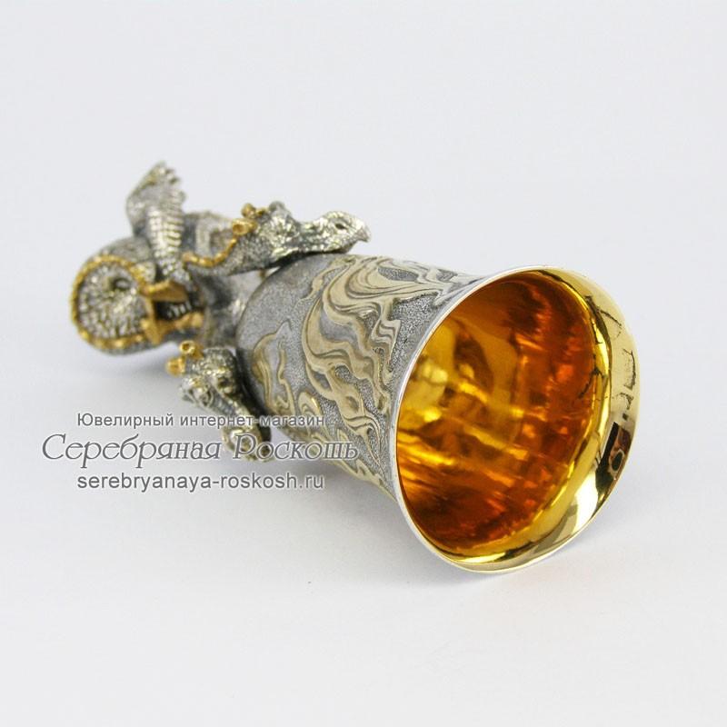 Серебряная рюмка Змей Горыныч